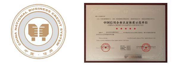 中国供应商-中国信用企业认证体系示范单位